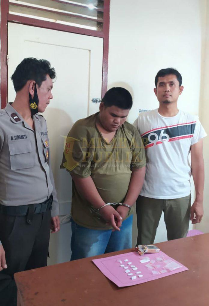 Pelaku penyalah guna narkoba ARRS di amankan di Desa Pergendangen, Kecamatan Tigabinanga, Kabupaten Karo